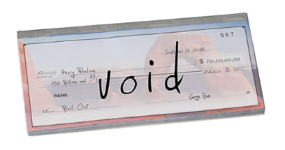 $700 billion voided check.